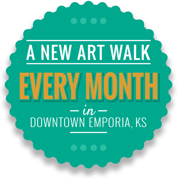 A new art walk every month in Downtown Emporia, Kansas